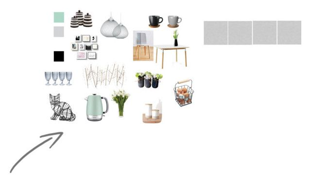 kuchnia by nataliawisniewska on Polyvore featuring interior, interiors, interior design, dom, home decor, interior decorating, Anthropologie, Normann Copenhagen, Moooi and Breville