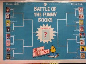 Battle of the Funny Books: Using a simple bracket you can have a battle of the books program for a summer reading or winter reading club!