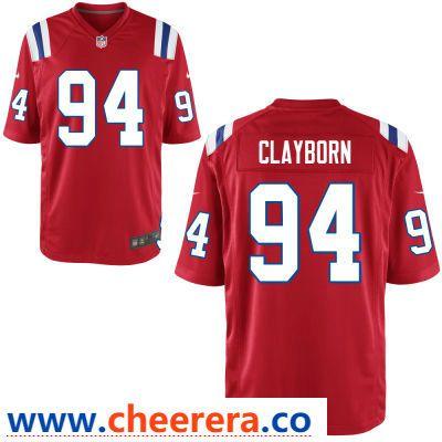 b355bece4 Men s New England Patriots  94 Adrian Clayborn Red Alternate Stitched NFL  Nike Game Jersey