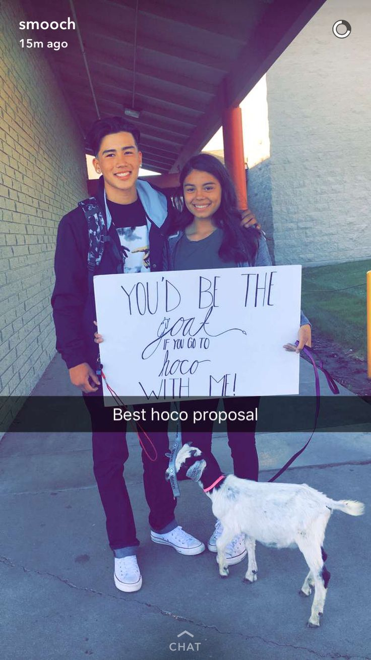Goat Proposal For Homecoming