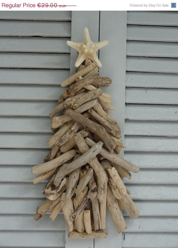 Driftwood natural chistmas tree driftwood decoration for Driftwood wall