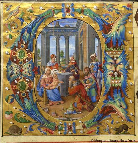 Adoration of the Magi within initial E | Gradual | Italy, Rome | ca. 1519 | The Morgan Library & Museum