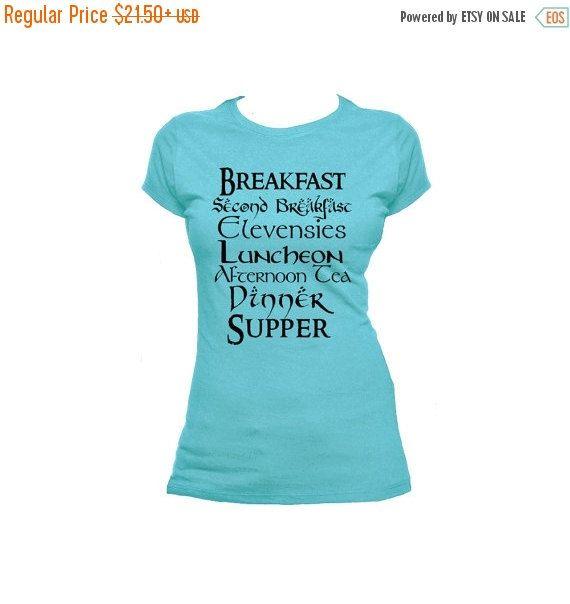 Second Breakfast Unisex Mens or Ladies T Shirt by NerdGirlTees