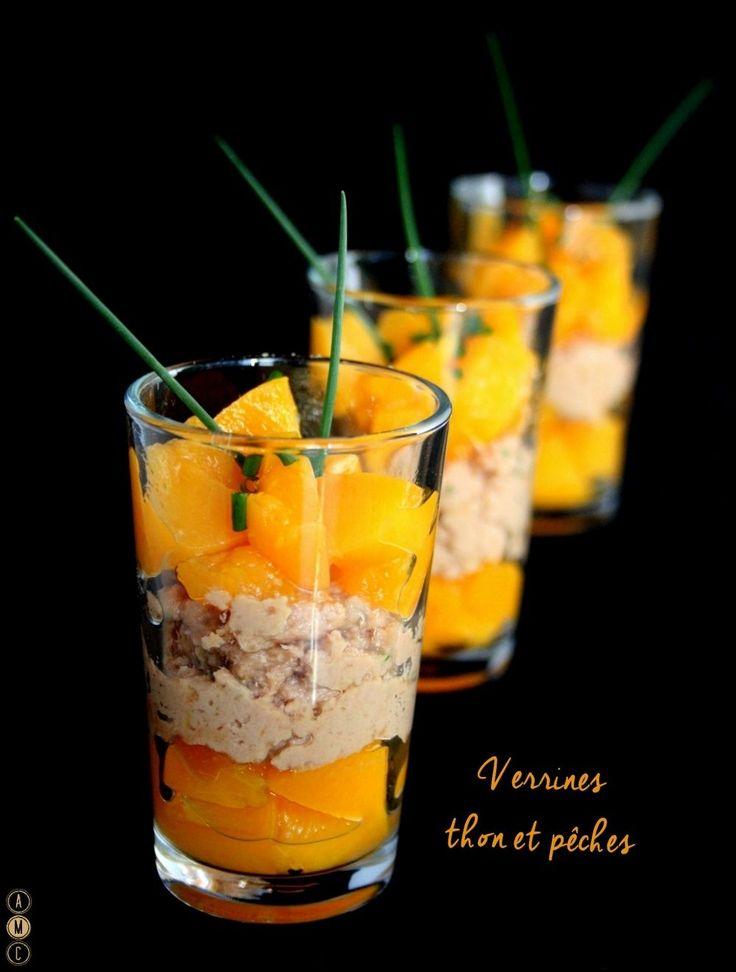 La rencontre du sucré-salé et épicé dans de petites verrines, pour une entrée express pleines de saveurs ! Cette recette peut aussi être servie pour l'apéritif dans des minis verrines. Ingrédients : (pour environ 6 verrines) une boite de thon au naturel...