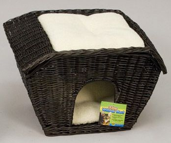 cat houses/beds images   Previous: Hooded Wicker Kitty Bed cat Bed Item No. DFMC-051