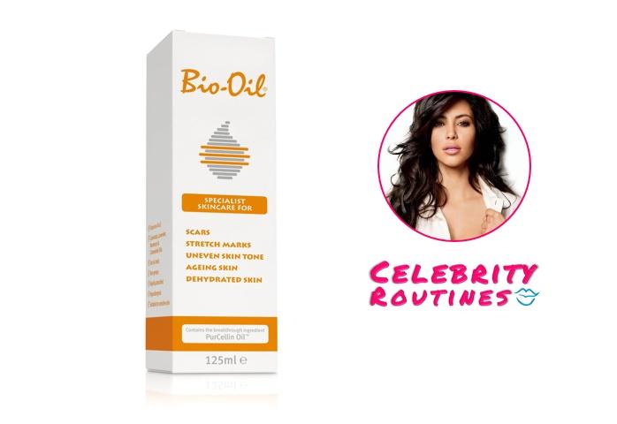"""It [Bio-Oil] prevents wrinkles around my eyes and stretchmarks over my body."" http://celebrityroutines.com/kim-kardashian/"