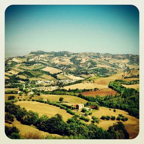 In the #Marche hills: beautiful patchwork!