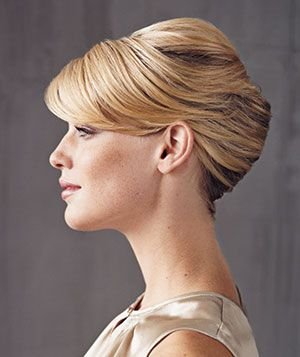 The classic twist works best with unlayered hair that is chin length