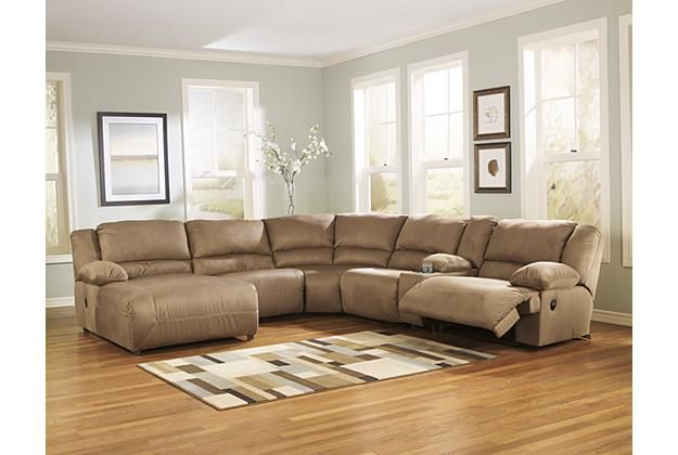 Tan leather sectional recliner sofa with chaise lounge for for Bay window chaise lounge