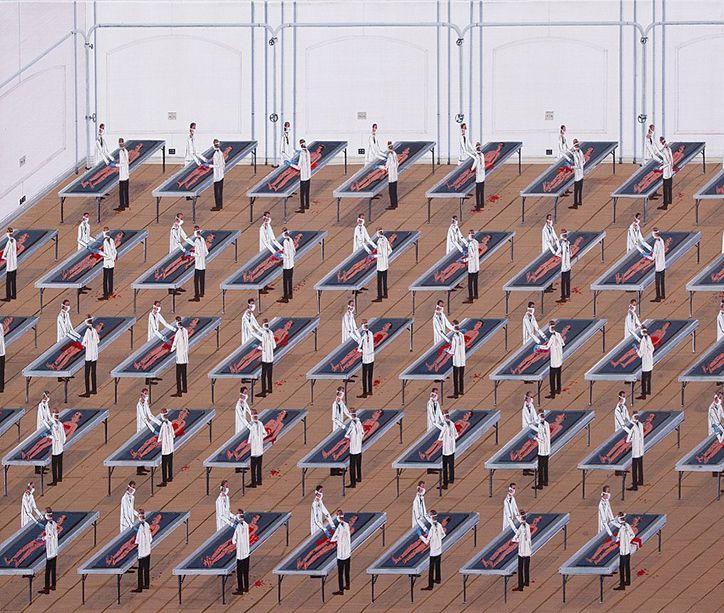 Ian_davis_paintings_of_uniformity_and_homogeneity_expert_advice_josh_lilley_exhibition_5