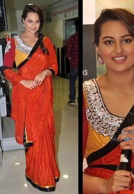 Sonakshi sinha r...rajkumar movie promotion bollywood replica saree
