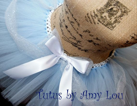 Cinderella Princess Race Running Tutu in Light Blue and White; Adult Women's on Etsy, $35.00