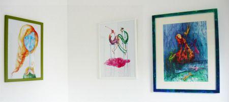 (framed) illustrations by Gratiela Aolariti