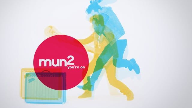Mun2 (Spanish pronunciation: mundos) is an American cable and satellite network catering to young Latinos living in the U.S. As a companion channel to Telemundo, mun2 is a proud fusion of cultures, the programming is a mix of reality, scripted series, music, sports, novelas and movies. A reflection of the audience, Mun2 airs programming in both English and Spanish.  The brand lives with a foot in both worlds. Latin / American, Spanish / English, Style / Substance... this theme of duality…