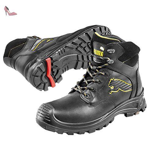 Puma Borneo Black Mid S3 HRO SRC, Puma, Chaussures de sécurité homme, Noir
