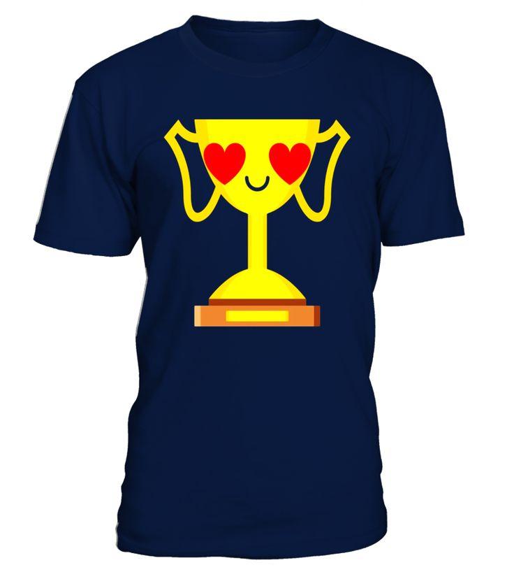 Golden Trophy Emoji Heart Eye Shirt T-Shirt Championship Tee  #AssumptionDay #Germany #Oktoberfest #GermanUnityDay #DayofReformation #AllSaintsDay #StStephensDay