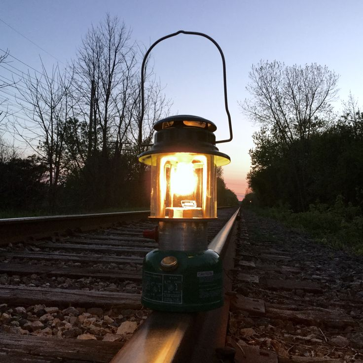 A cool Canadian evening and a Coleman Lantern