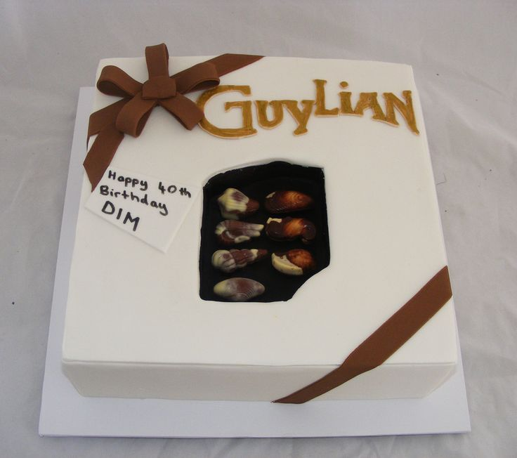 2D Guylian Chocolate Box Cake by My Cake Place http://www.mycakeplace.com.au/ https://www.facebook.com/MyCakePlace
