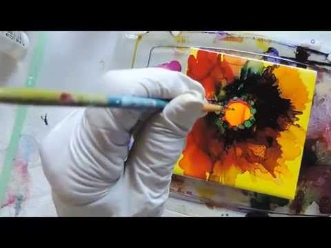 Alcohol Ink: Poppies Tutorial - YouTube