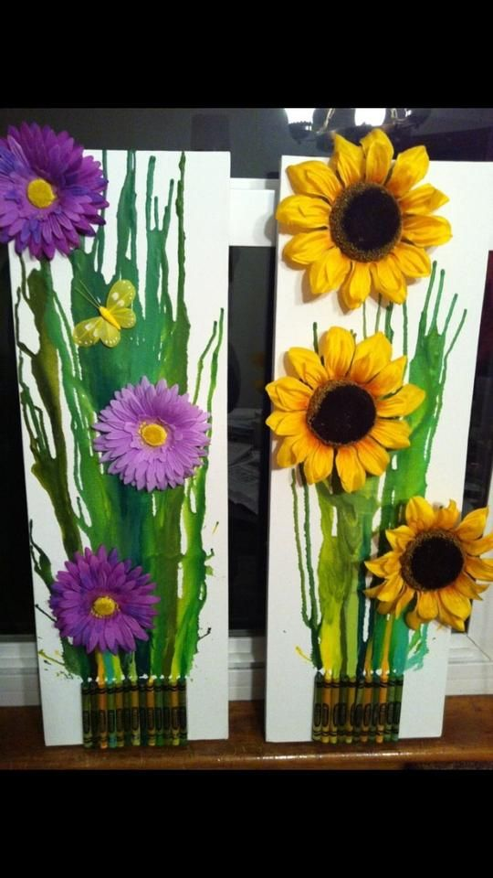 Then, using a hot glue gun, glue on your fake flowers in an arrangement you like!!