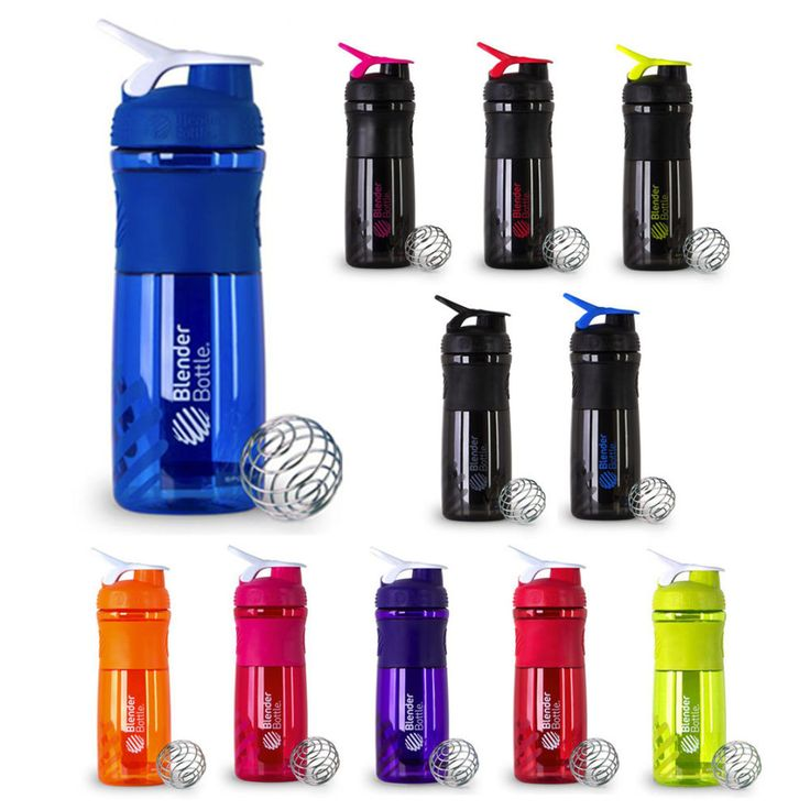 Pick 2 - Sports Blender Bottle 800ml Mixer Water Shaker Smart Shake ALL COLOURS