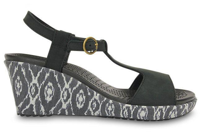 Sandales Crocs pas cher, achat Women's A-leigh Ikat Wedge prix promo 69,99 € TTC sur Crocs.fr