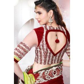 Maroon Faux Silk Saree