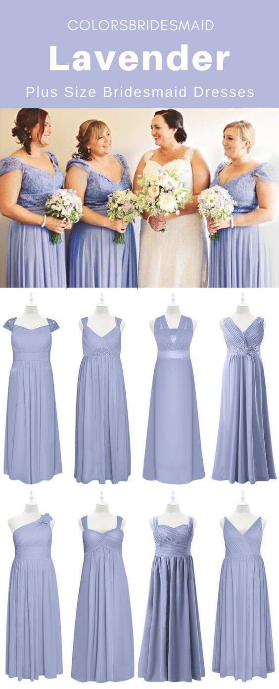 Custom-made Plus Size Lavender Bridesmaid Dresses To Flatter You ...