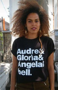 """The Goddesses -- Audre Lorde, Gloria Steinem, Angela McRobbie and Bell Hooks -- will get you through the day with this """"The Goddesses"""" T-shirt."""