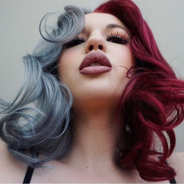 Best 25+ Two color hair ideas on Pinterest | Two toned hair, Blue ...