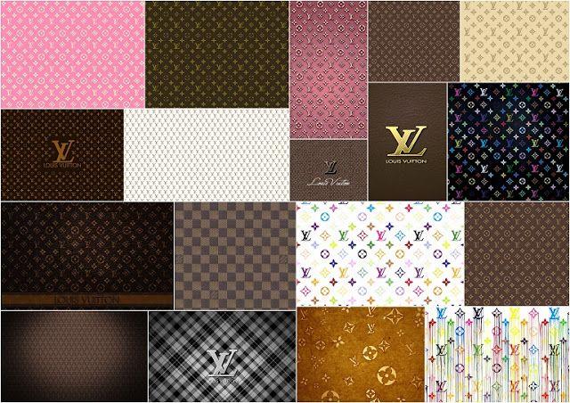 Louis Vuitton: Free Printable Paper.