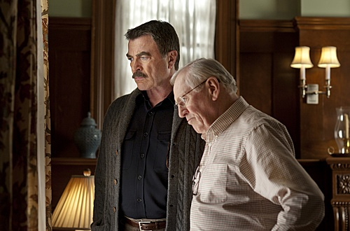 "Tom Selleck and Len Cariou in Blue Bloods from ""Collateral Damage"""