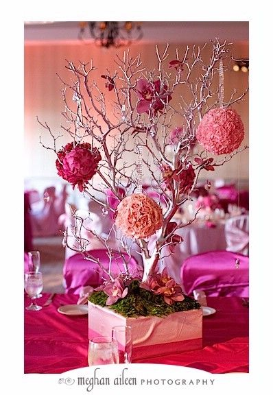3491 best images about the perfect quinceanera or sweet for Flower arrangements for sweet 16