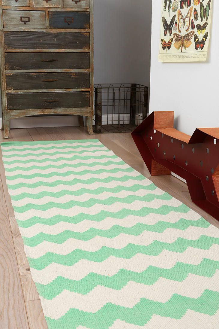 Seafoam Zigzag Runner - $50 at Urban Outfitters - LOVE!!!