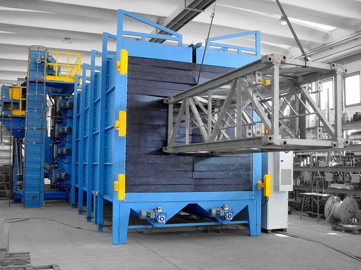 Granalladoras a turbina para estructuras de acero. Tecnología de Turbotecnica.