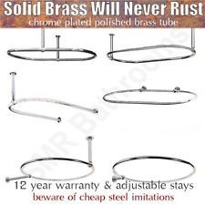 Traditional Oval & Round Bathrooms Shower Curtain Rails - Free Next Day Delivery