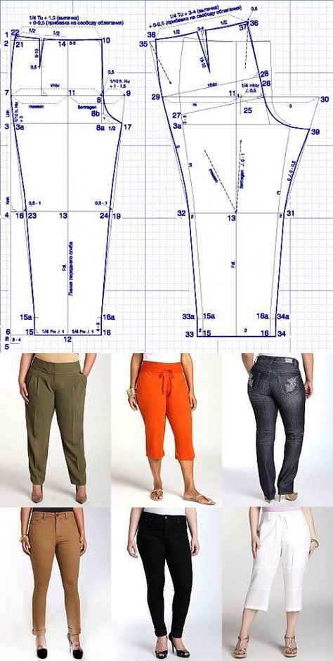 Выкройка брюк для 'роскошных' женщин: Шьем сами: Группы - diets.ru