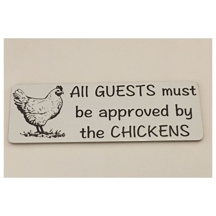 Chicken Chickens Pet Guests Sign Tin Rustic Wall Plaque Country Farm H – The Renmy Store