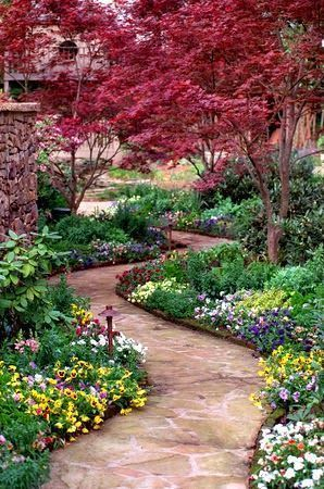 Garden Path.  I love the trees