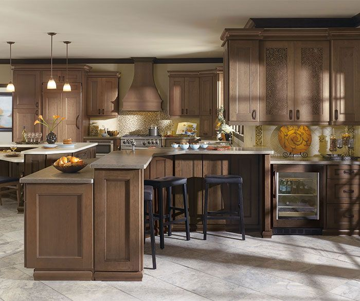 Picture Gallery For Website Kitchen with Cherry Cabinets Omega Cabinetry