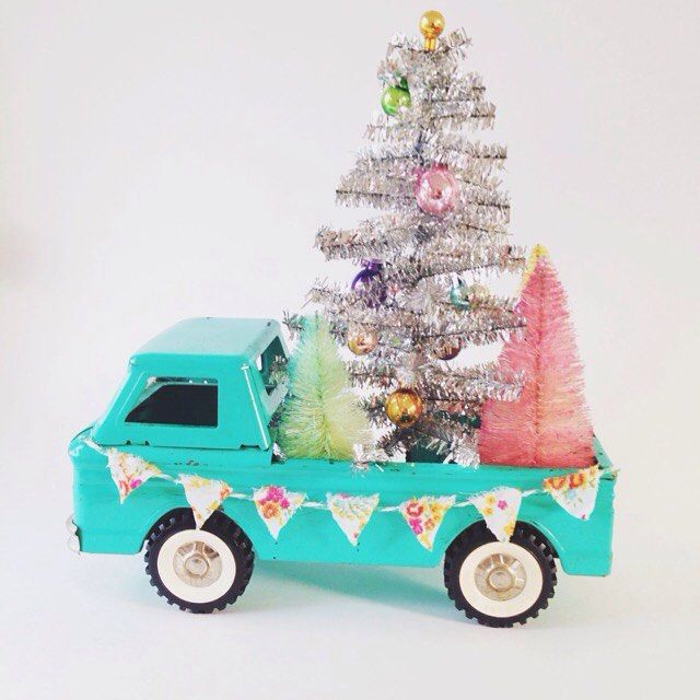 One more peek for today and our very favorite so far... (vintage Aqua truck anyone? Eeeek!) We were lucky enough to find TWO of these sweet trucks recently, one to keep and one to sell!