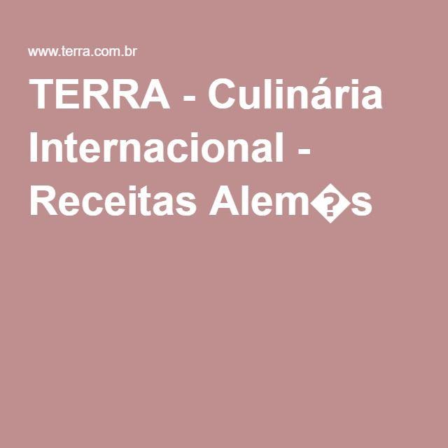 TERRA - Culinária Internacional - Receitas Alem�s