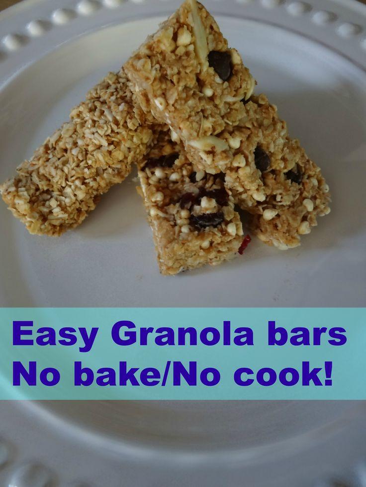 Easy Granola bars - no bake - no cook - 21 day fix