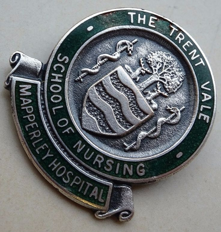 TRENT VALE SCHOOL OF NURSING BADGE. MAPPERLEY HOSPITAL