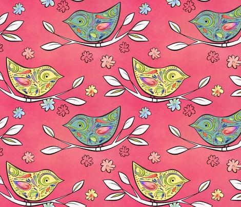 116 best a coat of many fabrics images on pinterest for Bird nursery fabric