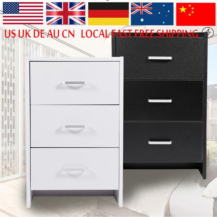 2 3 Cajón Dormitorio Moderno Minimalista de Moda mesa de Noche Mesita de Noche Blanco Negro Para Muebles Para El Hogar