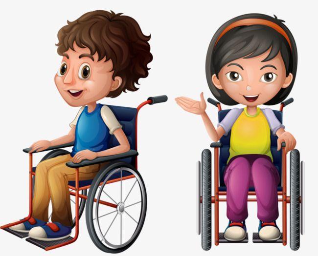 Un enfant assis sur le fauteuil roulant fauteuil roulant - Dessin bonhomme assis ...