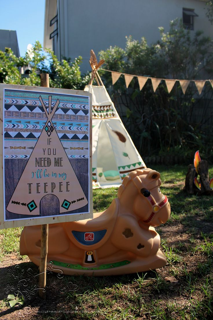 Teepee sign & tent #WildOne #Teepee