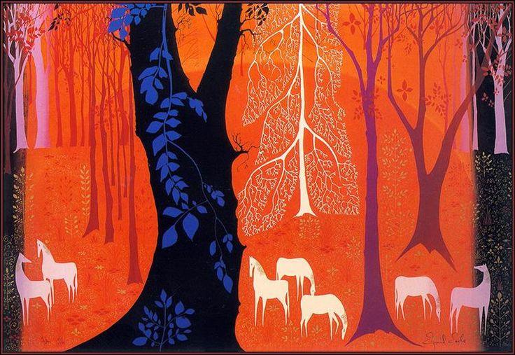 Επτά λευκά άλογα - Eyvind Earle