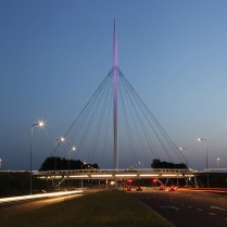 lighting - hovenring - circular cycle bridge - fietsrotonde - eindhoven
